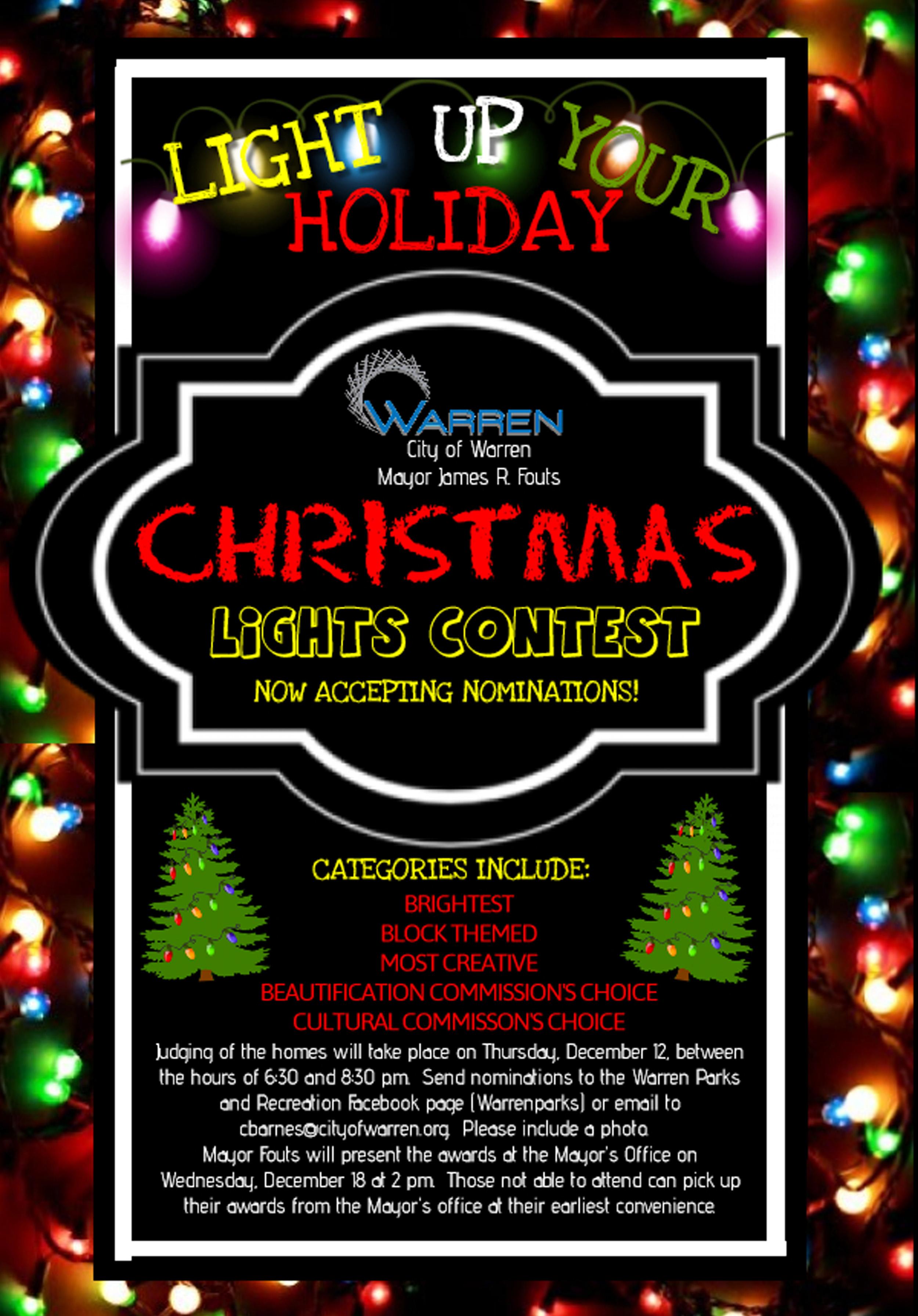 Warren Christmas Lights Contest copy