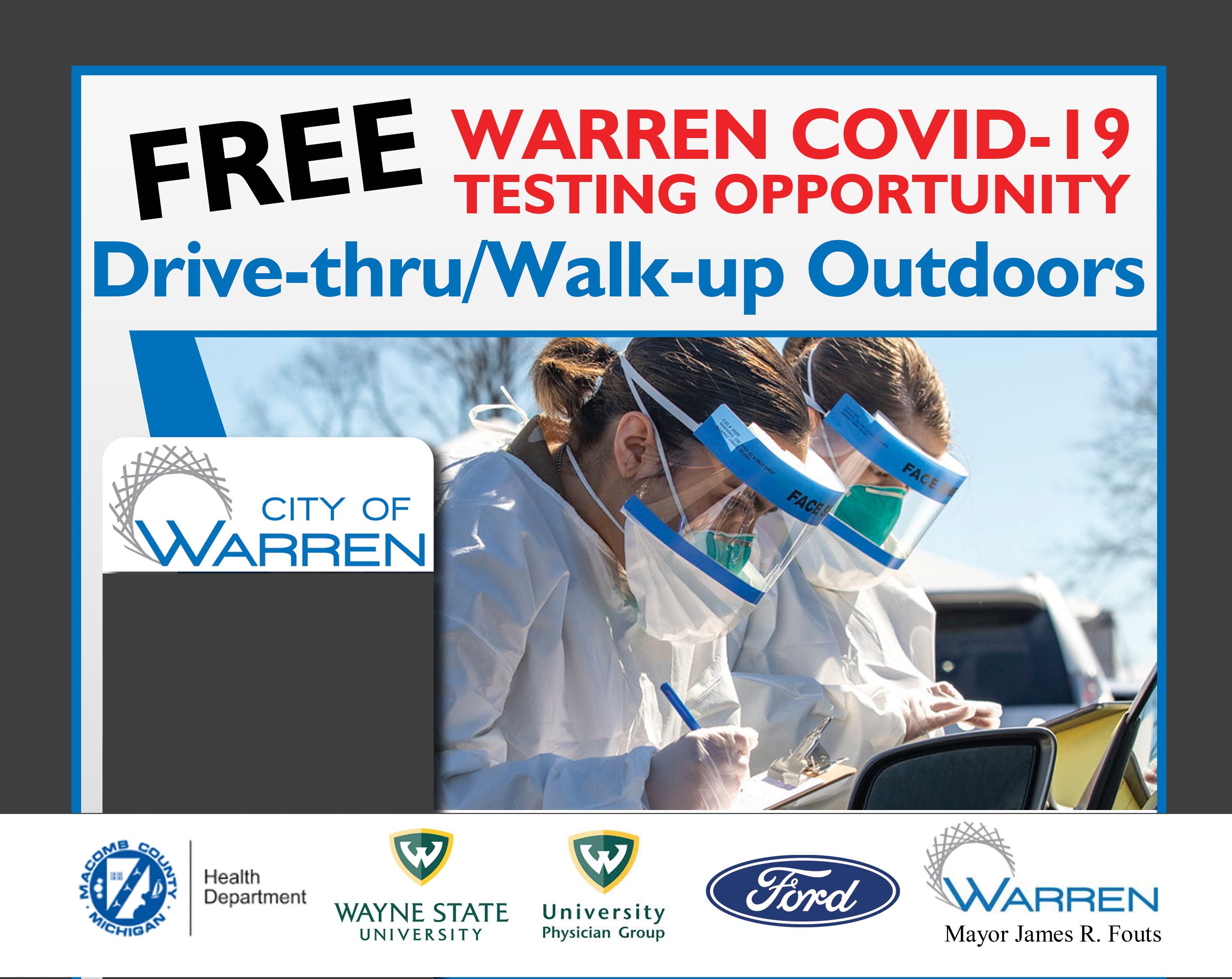 COVID testing warren